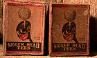XRare C1930s Advertising Nigger Head Golf Tees Boxes