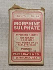 Morphine Hypodermic Tablets Narcotic Poison Bottle Eli Lilly