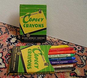 1930 Box School Milton Bradley Copley Crayons