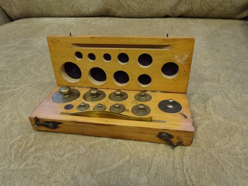 Antique C1900 Apothecary Pharmacy Weight Set Fisher Scientific Company