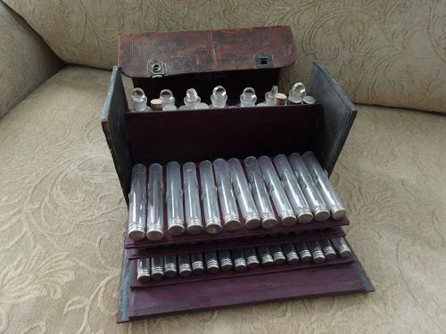 19thC Traveling Doctors Apothecary Medicine Case Early Merck
