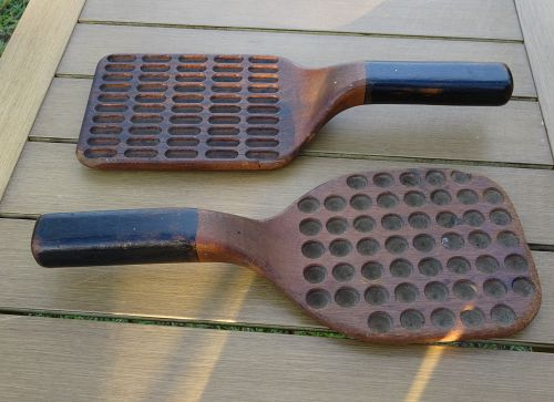 Pair 19thC Wood Pharmacy Drug Store Apothecary Pill + Capsule Counters