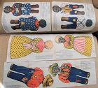1924 UNCUT SET Aunt Jemima FAMILY of4 RAG Dolls Uncle Mose Wade Diana