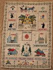 Lovely1940 Crosstitch Sampler New York City New Jersey Family History