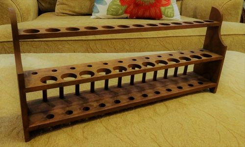 Wonderful Antique Wood Medical Laboratory Test Tube Holder Rack