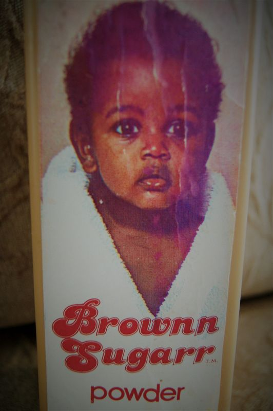 C1960s African-American Baby Brownn Sugarr Talcum Powder New Old Stock