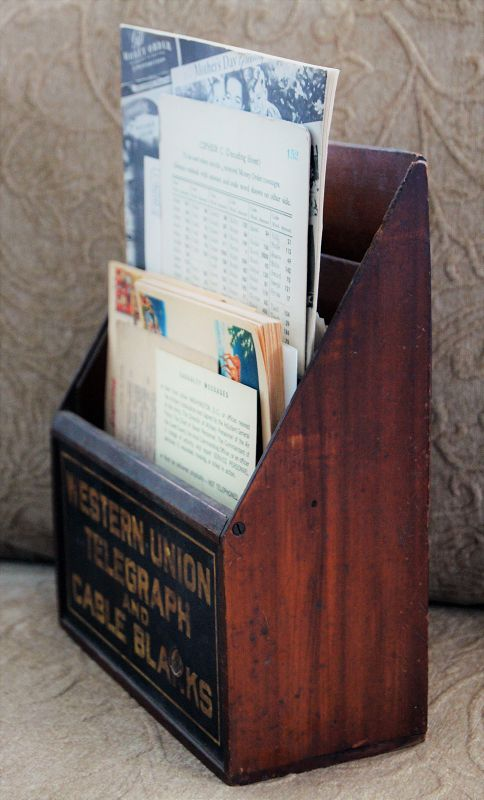 1920s Western Union Telegraph and Cable Advertising Pharmacy  Display