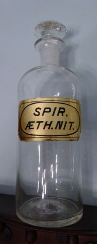 Choice Civil War Era Ether SPIRITS Apothecary Bottle w/ Pontil