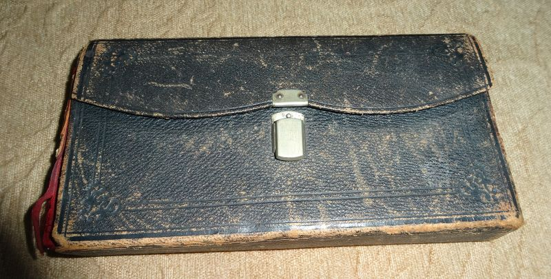 19thC Homeopathic Medicine Doctor Pharmacy Case w Cannabis Vial Bottle