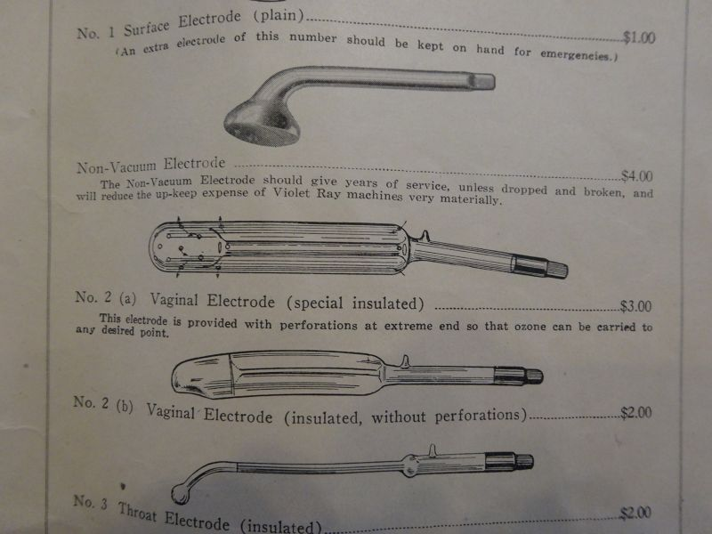Grouping of Antique Quack Medicine Violet Ray Tube Electrodes