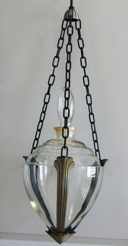 Fabulous Art Deco 1920-1930s Hanging Pharmacy Apothecary Show Globe