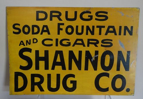 Iconic Lebanon Tennessee SHANNON DRUG COMPANY Drug Store Sign