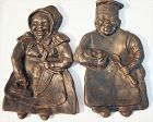 RARE1930Antique Cast Iron ToledoStove Spoon Rest Aunt Jemima UncleMose