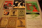 1920-30 Group Of 10 Black Americana Minstrel Theater Books and Music