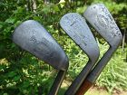 3 very nice Antique Wood Shaft Golf Clubs Mashie and Mid Iron