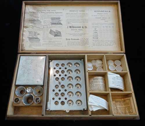 19thC Pharmacy, Drug Store Cachet KONSEAL FILLING CLOSING APPARATUS