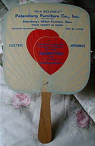 1940 Petersburg Virginia Store Advertising Fan