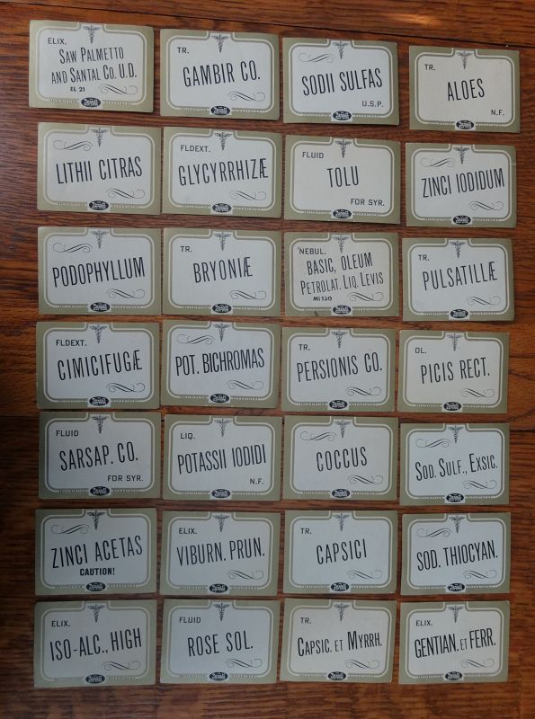 Vintage Rexall Pharmacy Drug Store Apothecary Bottle Labels 200+