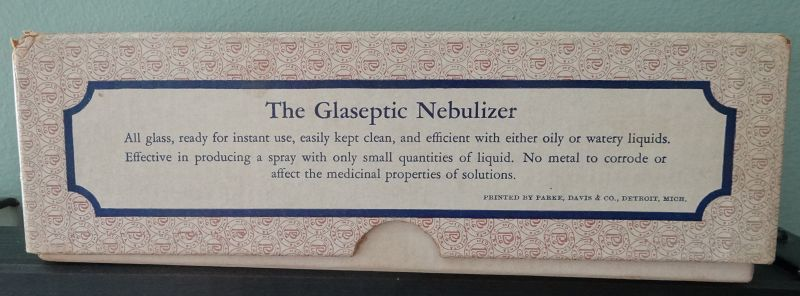 Parke Davis Lung Remedy Cure Glaseptic Nebulizer Pharmacy Drugstore
