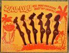C1950-60s NOS Black Memorabilia ZULU LULU Novelty Swizzle Sticks