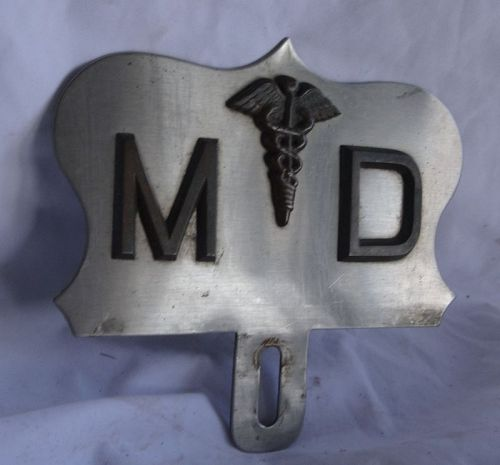 Fabulous Vintage 1950s MD Medical Doctor License Plate Topper