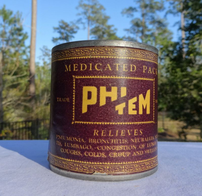 Scarce 1930s Cure Asthma Lung Cough Plasters Pharmacy Drugstore Tin