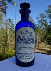 Stunning 1880s Wanamakers Cobalt Blue Barber Shop BAY WATER Bottle