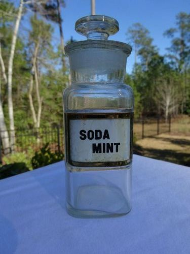 Nice SODA MINT Apothecary  Bottle Small Size