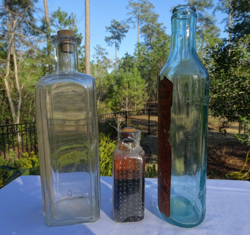 3 Lung Cough Remedy Cure Medicine Bottles Starkey Palen Scotts