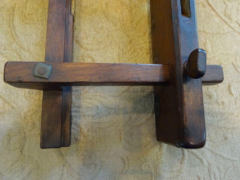 C1830s Woodworking Adjustible Plow Plane w/Bone Insert