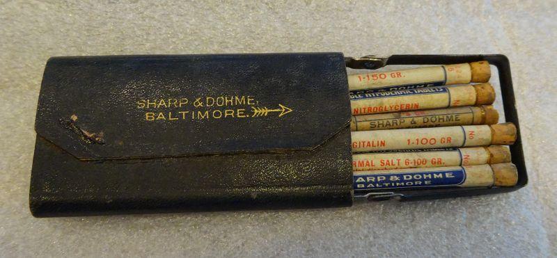 Scarce C1920 Sharpe Dohme Hypodermic Medicine Case Baltimore