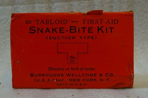 C1940s Snake Bite Medical Kit WWII Era Burroughs Wellcome & Co.