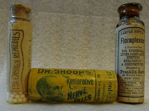 3 C1900 Dr Shoop's Brain Emotional Disorders CURES Patent Medicines