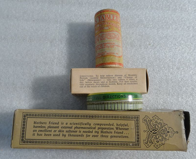 4 New Old Stock C1920-1940 Patent Medicine Cure Remedy Tin Bottles