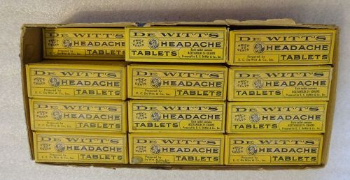 Scarce C1930s Dewitts Headache Tablets Pharmacy Drugstore Display
