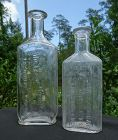 2 C1910-1920 Drug Store Bottles Longmont and Leadville Colorado