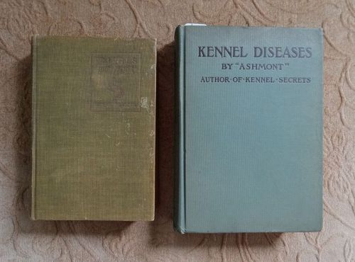 Two Canine Veterinary Medicine Disease Books Published 1915 1925
