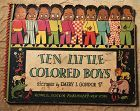 1942 Ten Little Colored Boys Book Black Americana