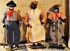 1930s Alabama Folk Art Black Cloth Dolls WPA Project US President FDR
