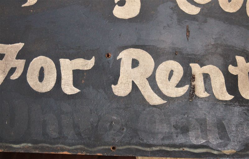 """C1930s SEGREGATION Sign """"Sleeping Room For Rent """" """"WHITE ONLY"""""""