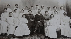 RARE 1880 Hospital Nursing School Graduation Photograph