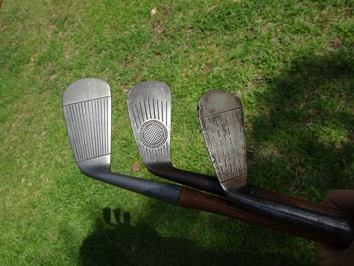 3 Hickory Golf Clubs Hand Forged Mid Iron Sarazen Kroydon Hollywood