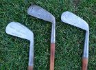 3 Hickory Golf Clubs T Stewart Williams Forged 1910 Scotland