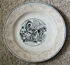 C1860 Staffordshire Plate Uncle Tom in Shackles ForSale Slave Market