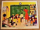 Signed 2003 School Classroom Print READING FOR SUCCESS Black Americana