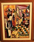 Signed Limited Edition 2005 Giclee Print DINING OUT Black Americana