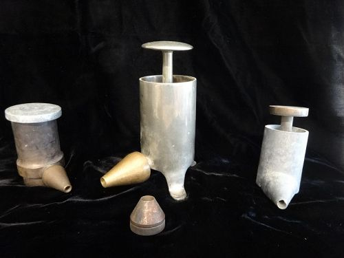 C1920 3 Scarce Ointment Mill Tube Fillers Drug Store Pharmacy Tools