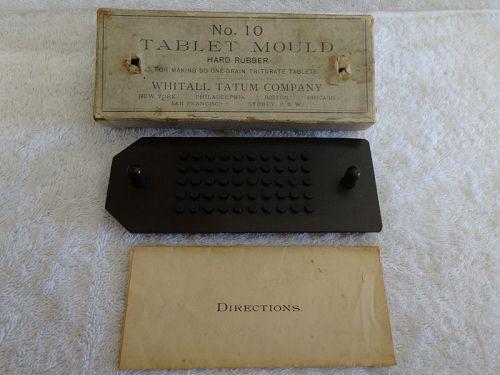 19thC Apothecary Pharmacy Whitall Tatum Tablet Mould