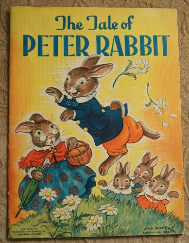 1937 The Tale of Peter Rabbit Large Folio Book for Use in School