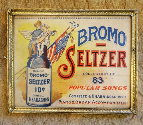 C1900 BROMO SELTZER Cure Song Book Cover Advertisement for Drug Stores